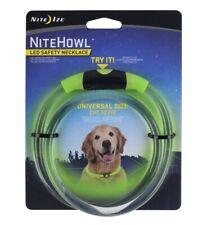 Dog LED Flashing Adjust. Night Collar NiteIze NiteHowl Safety Necklace Universal