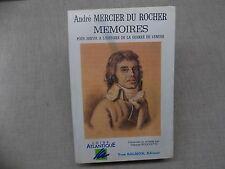 André MERCIER DU ROCHER MEMOIRES pour servir a l'histoire de la Guerre de Vendée