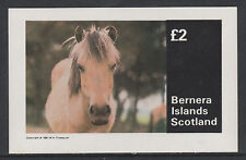 GB Locals - Bernera 3265 - 1981  HORSES  imperf deluxe sheet unmounted mint