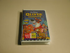 Oliver & Company Clamshell Vhs 7897 Walt Disney Masterpiece Factory Sealed