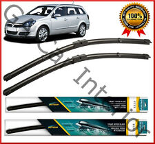 "Vauxhall Astra H Estate 2004 - 2010 Front Pair Flat Aero Wiper Blades 22""18"" (B)"