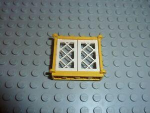 Fenetre jaune LEGO Yellow window ref 3853 + 2529 White Set 6285/6267/6274/10040