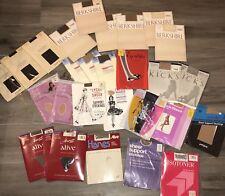 Vintage Stocking Pantyhose Lot Nylon Berkshire 27 Pairs Hanes Alberts NIB Large