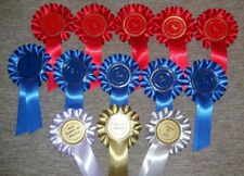 Ringcraft match night rosettes 1st - 2nd x5 best in match, reserve and puppy