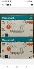 (LOT OF 2) EcoSmart 65W Soft White BR30 Dimmable LED LightBulb 6-Pack