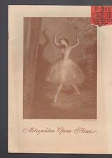 Metropolitan Opera House Program April 19 1945 Ballet Theatre
