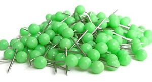 25 Green Map Tacks Push Pins Plastic Head with Steel Point, 3/ 8 Inch