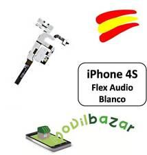 CABLE FLEX CONECTOR JACK AUDIO VOLUMEN MUTE IPHONE 4S BLANCO NUEVO. ESPAÑA