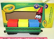 Lionel 7-11552 Crayola Gondola G gauge Compatible with Lionel battery-operated
