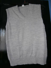 pull debardeur gris moyen grande taille 50/52 tbe