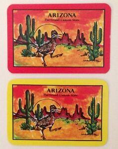 Miniature Vintage Arizona State Souvenir Swap Cards (The Grand Canyon State) USA