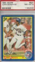 Juan Gonzalez 1990 Score Rookie Card #637 NM-MINT 8 Texas Rangers