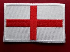 ENGLISH ST GEORGE'S RED CROSS RUGBY FOOTBALL FLAG EMBROIDERED PATCH UK SELLER