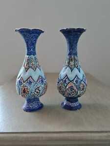 Handmade Persian Minakari vases