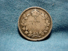 1913 Canadain  5 Five Cents .925 Silver