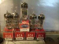 (5) STRONG! NOS Vintage 3CB6/3CF6 Vacuum Tube Lot