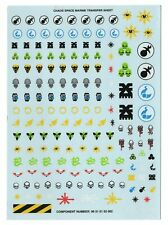 Warhammer 40k Chaos Space Marines Transfer Sheet / Decal Sheet