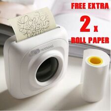 PAPERANG Portable Bluetooth Wireless Photo Printer iOS Android + 2 x Roll Paper