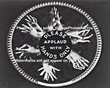 Old Vintage Antique Funny Weird Strange Applaud Hands Movie Theater Slide Photo