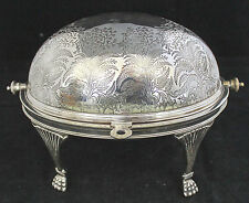Victorian English Silver Rolling Dome Warm Buffet Server Daniel Arter Aesthetic
