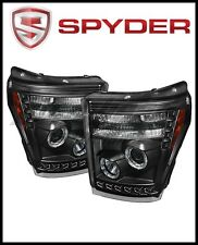 Spyder Ford Super Duty 11-15 Projector Headlights CCFL Halo DRL Blk Low 9006