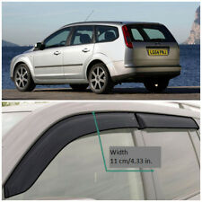 Wide Window Visors Side Guard Vent Deflectors For Ford Focus Wagon 2004-2011 Eur