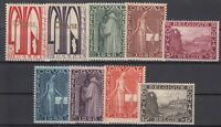 AU5511/ BELGIUM – ORVAL - Y&T # 258 / 266 COMPLETE MINT MH – CV 110 $