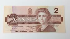 1986 Canada 2 Two Dollars EBT Prefix Canadian Uncirculated Banknote G202