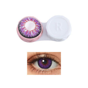 Color Contact lens Case Pocket Easy Carry With Storage Item Makeup beauty 2pcs