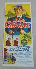 AL CAPONE ORIGINAL DAYBILL CINEMA MOVIE POSTER 1959 Rod Steiger PROHIBITION