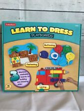 Lakeshore Learn To Dress Boards Early Learning 18 Mos + Button, Fasten, Lace