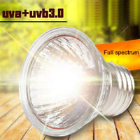 UVA+UVB 3.0 Reptile Lamp Bulb Amphibians Turtle Basking Light Bulbs Heating Bulb