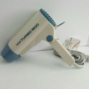 Sears Folding Turbo Hair Dryer 1500w adjustable tested works