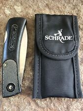 VINTAGE SCHRADE+ U.S.A. SP3 LIGHTWEIGHT LOCK-BACK W/DROP POINT BLADE AND SHEATH