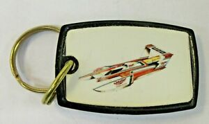 circa 1985 MILLER AMERICAN Hydroplane boat racing KEYCHAIN key ring