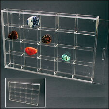 SAFE Acryl Kleinvitrine, transparent, 300x200x45mm, 20 Fächer57x47x42mm ( 5257 )