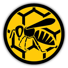 "Honey Bee Symbol Sign Car Bumper Sticker Decal 5"" x 5"""