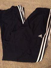 Adidas Mens ATS Protect Mesh Lined Athletic Pants Black White Stripes Medium