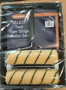 Lynwood Twin Tiger Stripe Roller Set Ideal for water based paint