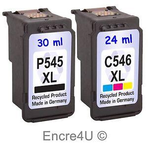 Cartouches d'encre compatibles avec imprimante Canon MG3050 : PG545 XL CL546 XL
