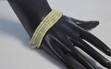 "100% Natural Ethiopian Fire OPAL Faceted Gemstone Beads 5 Strand Bracelet 7.5"""