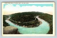 Ansted WV, Horse Shoe Bend, Hawks Nest, River, Vintage West Virginia Postcard
