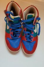 Nike Dunk High 6.0 Women's Sz 8.5 Shoes Multicolor 342257-611 Red Blue Sneakers