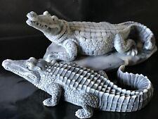 Crocodile figurines miniature alligators marble chips from Russia