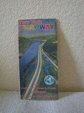 Vintage 1969 Welcome to New York Thruway Collectible Road Map