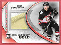 2011-12 Aaron Boogaard ITG In The Game Heroes and Prospects Jersey Gold /10