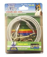 Four Paws Silver Heavy Weight 20 Foot Dog Tie Out Chain