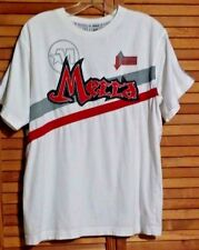 MECCA CLASSIC T-SHIRT SEWED ON APPLIQUES WHITE YOUTH LARGE (14/16)