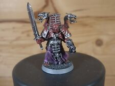 CLASSIC METAL WARHAMMER CHAOS SPACE MARINE SORCERER THOUSAND SONS PAINTED (3086)