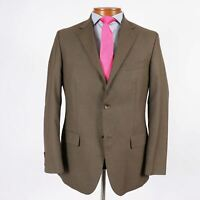 Geoffrey Beene Men 40R Olive Brown 2 Btn Blazer Sport Coat Jacket Side Vents 402
